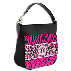 Triple Animal Print Hobo Purse w/ Genuine Leather Trim (Personalized)