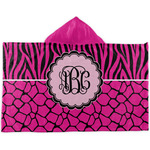 Triple Animal Print Kids Hooded Towel (Personalized)
