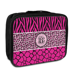 Triple Animal Print Insulated Lunch Bag (Personalized)