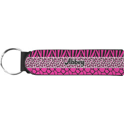 Triple Animal Print Neoprene Keychain Fob (Personalized)