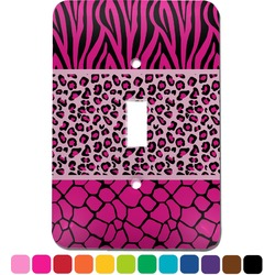 Triple Animal Print Light Switch Cover (Single Toggle) (Personalized)