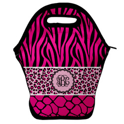 Triple Animal Print Lunch Bag (Personalized)