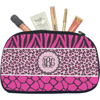 Triple Animal Print Makeup / Cosmetic Bag - Medium (Personalized)