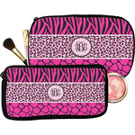 Triple Animal Print Makeup / Cosmetic Bag (Personalized)