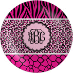 Triple Animal Print Melamine Plate (Personalized)