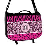 Triple Animal Print Messenger Bag (Personalized)
