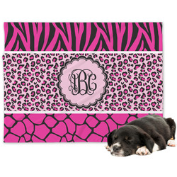 Triple Animal Print Minky Dog Blanket (Personalized)