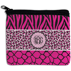 Triple Animal Print Rectangular Coin Purse (Personalized)