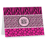 Triple Animal Print Note cards (Personalized)