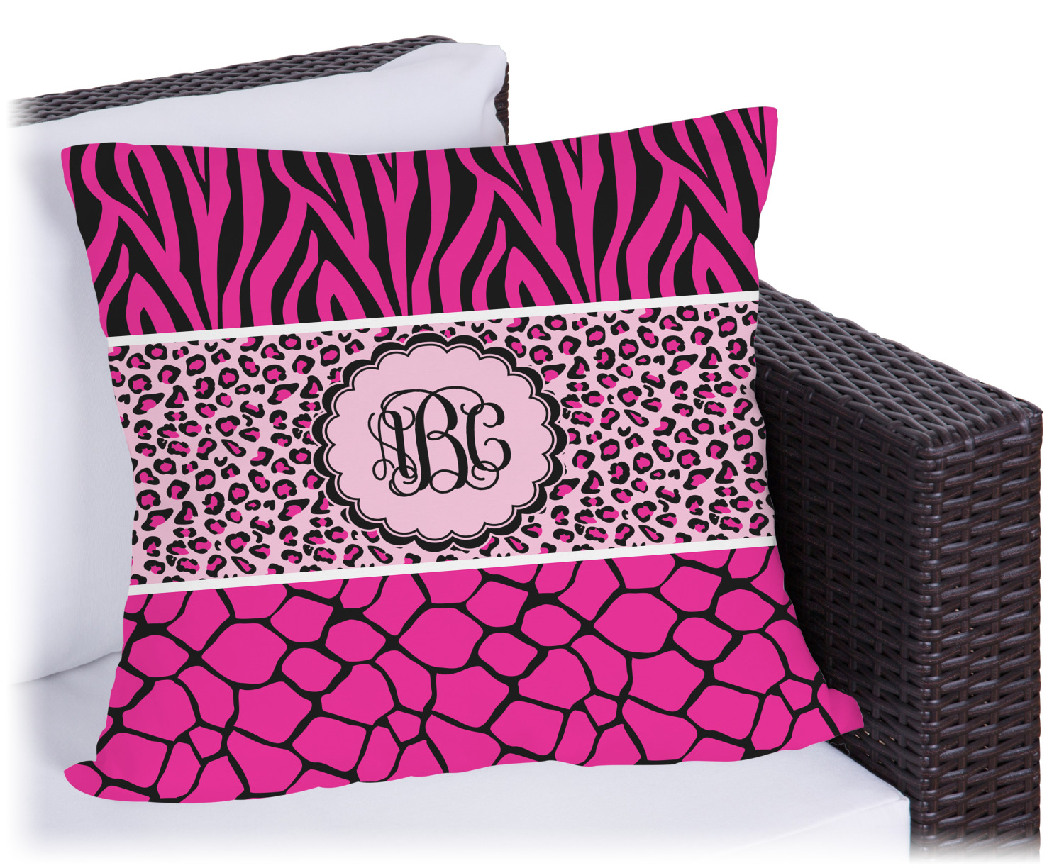 Triple Animal Print Outdoor Pillow - 18