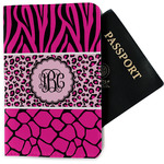 Triple Animal Print Passport Holder - Fabric (Personalized)