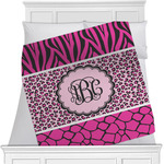 Triple Animal Print Minky Blanket (Personalized)