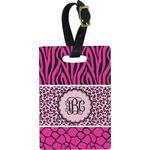 Triple Animal Print Rectangular Luggage Tag (Personalized)