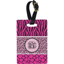 Triple Animal Print Rectangular Luggage Tag (Personalized)