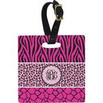 Triple Animal Print Square Luggage Tag (Personalized)
