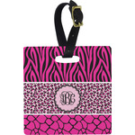 Triple Animal Print Square Luggage Tag (Personalized)