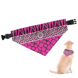 Triple Animal Print Dog Bandana (Personalized)