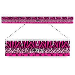 "Triple Animal Print Plastic Ruler - 12"" (Personalized)"