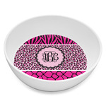 Triple Animal Print Melamine Bowl 8oz (Personalized)