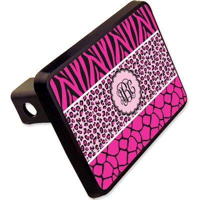 "Triple Animal Print Rectangular Trailer Hitch Cover - 2"" (Personalized)"