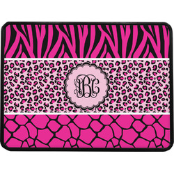 """Triple Animal Print Rectangular Trailer Hitch Cover - 1.25"""" (Personalized)"""