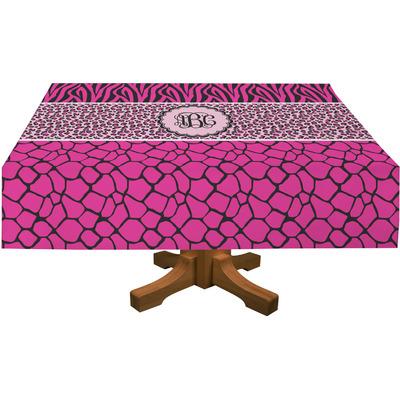 "Triple Animal Print Rectangular Tablecloth - 88""x156"" (Personalized)"