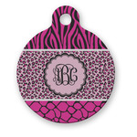 Triple Animal Print Round Pet Tag (Personalized)