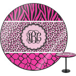 Triple Animal Print Round Table (Personalized)