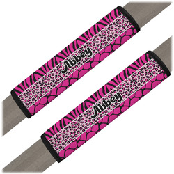 Triple Animal Print Seat Belt Covers (Set of 2) (Personalized)