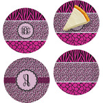Triple Animal Print Set of Appetizer / Dessert Plates (Personalized)
