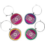 Triple Animal Print Wine Charms (Set of 4) (Personalized)
