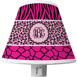 Triple Animal Print Shade Night Light (Personalized)