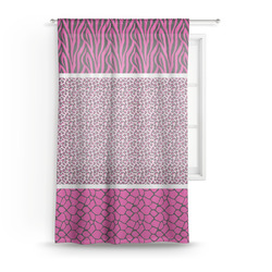 "Triple Animal Print Sheer Curtain - 50""x84"" (Personalized)"