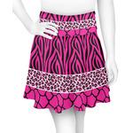 Triple Animal Print Skater Skirt (Personalized)