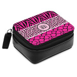 Triple Animal Print Small Leatherette Travel Pill Case (Personalized)