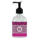 Triple Animal Print Soap/Lotion Dispenser (Glass) (Personalized)