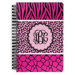 Triple Animal Print Spiral Bound Notebook (Personalized)