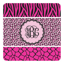 Triple Animal Print Square Decal - Custom Size (Personalized)