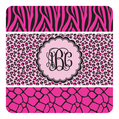 Triple Animal Print Square Decal (Personalized)