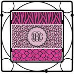 Triple Animal Print Square Trivet (Personalized)