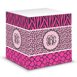 Triple Animal Print Sticky Note Cube (Personalized)