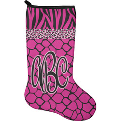 Triple Animal Print Christmas Stocking - Neoprene (Personalized)