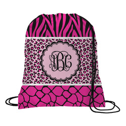 Triple Animal Print Drawstring Backpack (Personalized)