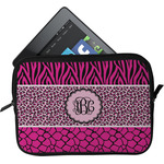 Triple Animal Print Tablet Case / Sleeve (Personalized)