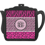 Triple Animal Print Teapot Trivet (Personalized)