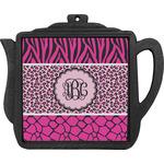 Triple Animal Print Teapot Trivet (Personalized)