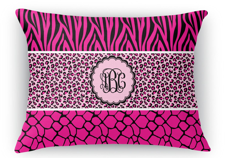 Animal Print Throw Pillows And Blankets : Triple Animal Print Rectangular Throw Pillow - 18