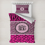 Triple Animal Print Toddler Bedding w/ Monogram