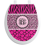 Triple Animal Print Toilet Seat Decal (Personalized)