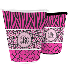 Triple Animal Print Waste Basket (Personalized)